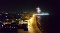 Ausssicht aus dem Hotel Karneval Feuerwerk
