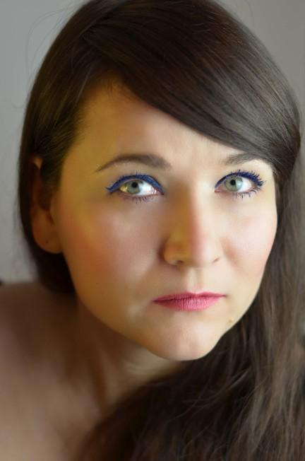 monochromes Augen Make-up
