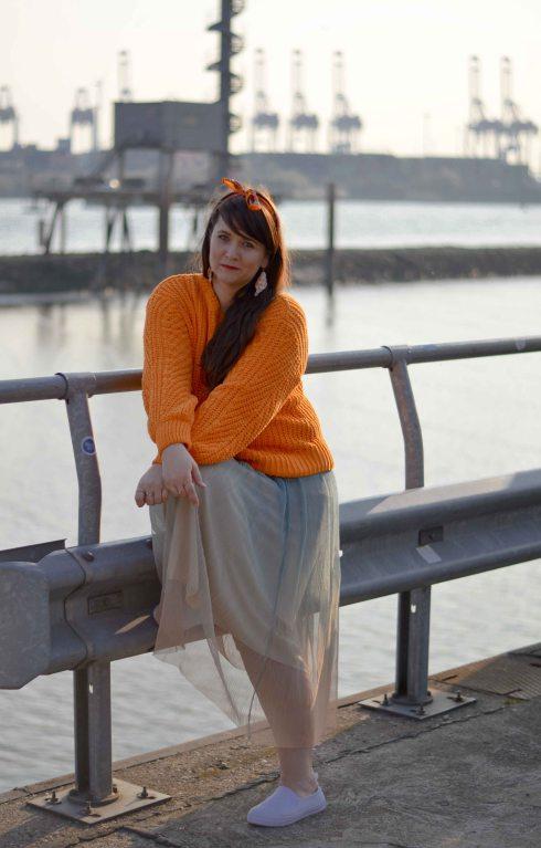 Tumeric-Orange Pullover klein